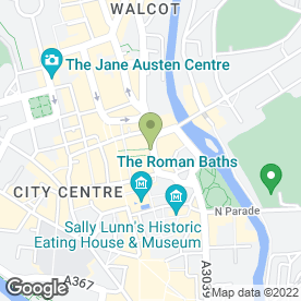 Map of Patisserie Valerie in Bath, avon