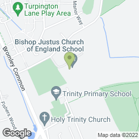 Map of Bishop Justus Church of England School in Bromley, kent