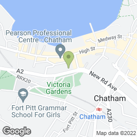 Map of St George Hotel (Chatham) in Chatham, kent