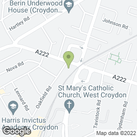 Map of Seccombe (Builders Merchants) Ltd in Croydon, surrey