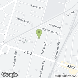 Map of P.D MOTORS (CROYDON) in Croydon, surrey