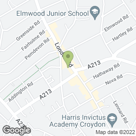 Map of Chicken Corner in Croydon, surrey