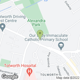 Map of Travis Perkins Trading Co.Ltd in Tolworth, Surbiton, surrey