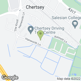 Map of Balloons Only in Chertsey, surrey