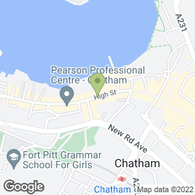 Map of Garratt,Anderson & Partners in Chatham, kent