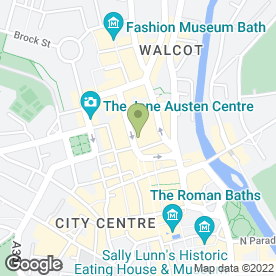 Map of HSBC Bank plc in Bath, avon