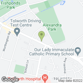 Map of Aspen Veterinary Surgery in Surbiton, surrey