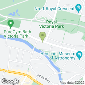 Map of Vauxhall - Hinton Garage (Bath) in Bath, avon