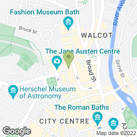 Map of Cafe Rouge in Bath, avon