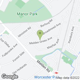 Map of Feely Mini Digger Hire in Worcester Park, surrey