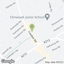 Map of Enterprise Rent-A-Car in Croydon, surrey