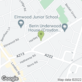 Map of Sims Tattoos in Croydon, surrey