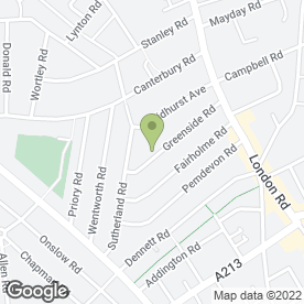 Map of Dr Cambridge N in Croydon, surrey