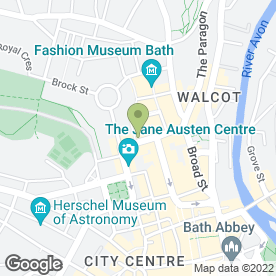 Map of Moles in Bath, avon
