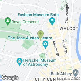 Map of Derek Walker in Bath, avon