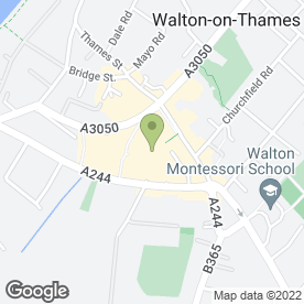 Map of Phones 4U Ltd in Walton-On-Thames, surrey