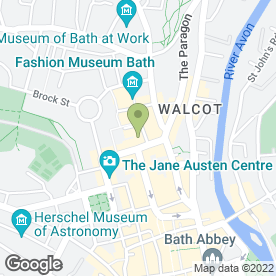 Map of Edgar Buildings Dental Care Ltd in Bath, avon