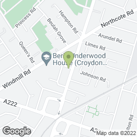 Map of Whitehorse Tyre Service in Croydon, surrey