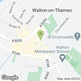 Map of Vine in Walton-On-Thames, surrey