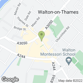Map of Vodafone Ltd in Walton-On-Thames, surrey