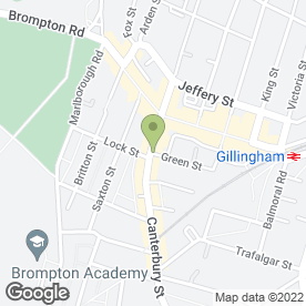 Map of Dixy Fried Chicken in Gillingham, kent