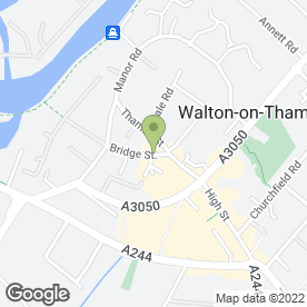 Map of The Bear in Walton-On-Thames, surrey