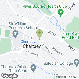 Map of R & D Hitch Ltd in Chertsey, Surrey, surrey