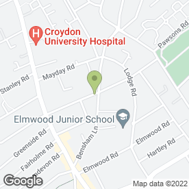 Map of Cedars House Hotel in Croydon, surrey