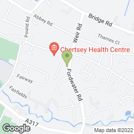 Map of Ace Sheet Metal Works Ltd in Chertsey, surrey