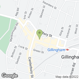 Map of Thomson in Gillingham, kent