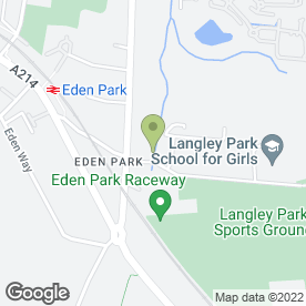 Map of Langley Sports Club in Beckenham, kent