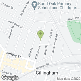 Map of The Rose Inn in Gillingham, kent