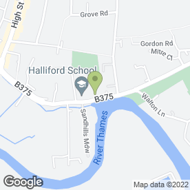 Map of Halliford School in Shepperton, middlesex