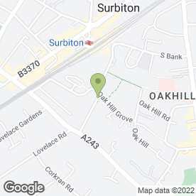 Map of London Elite Brickwork in Surbiton, surrey