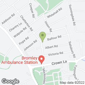 Map of Mosslea Ltd in Bromley, kent