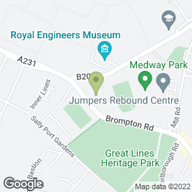 Map of Gillingham Aerials & Satellites in Gillingham, kent
