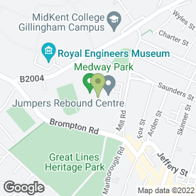 Map of Medway Martial Arts in Gillingham, kent
