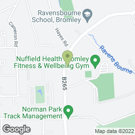 Map of Nuffield Day Nursery in Bromley, kent