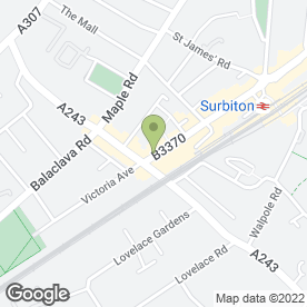 Map of Avery Cole in Surbiton, surrey