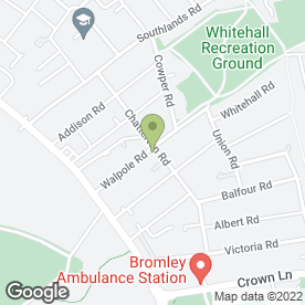 Map of Chatterton Rd P.O in Bromley, kent