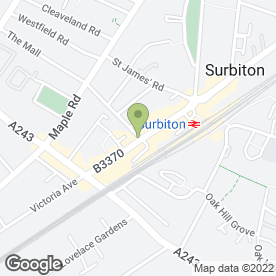 Map of Costa Coffee Ltd in Surbiton, surrey