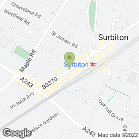 Map of Simplicity in Surbiton, surrey
