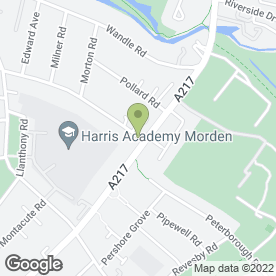 Map of Gemini Blinds & Awnings Ltd in Morden, surrey