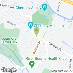 Map of Simpsons Fried Chicken in Chertsey, surrey