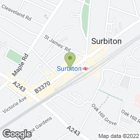 Map of Flight Centre in Surbiton, surrey