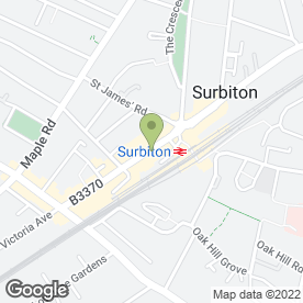 Map of Greggs in Surbiton, surrey