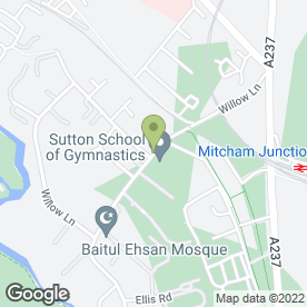 Map of Croydon Scaffolding in Mitcham, surrey