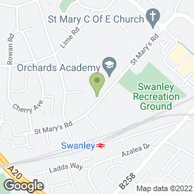 Map of Alexandra Suite - Swanley Banqueting in Swanley, kent