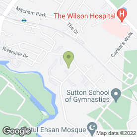 Map of Willow Motor Works in Mitcham, surrey