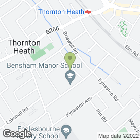 Map of 1St British Standard Locksmiths 24/7 in Thornton Heath, surrey